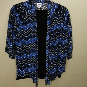 Always For Me Sheer Flyaway Kimono + Black Top EUC